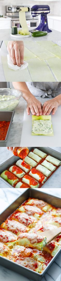 Happy National Zucchini Day! @LoveAndOliveOil is celebrating with her recipe for Zucchini Lasagna Rolls made using the KitchenAid® Vegetable Sheet Cutter Attachment. Learn how to make them on our blog: http://kitchen.ai/dKfgkc