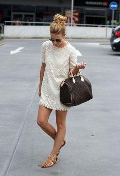 Little white dress & Louis