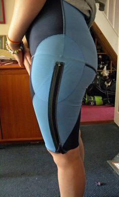 OMG I need custom compression pants and shirts! I have wide wraps for my hips & ribs, but one time the elastic pushed a rib INTO me and got stuck pinched between the two surrounding ribs and the driver had to pull over and yank the damn elastic out of my body. NOT worth it, esp.since the strength involved getting them on tightly and adjusting the velcro is more dangerous than letting it be bc of wrist/finger dislocations/subluxatons.