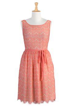 Pink Bridesmaids Dresses, Vintage Lace Dresses Shop women's fashion design - Prom Dresses - Designer Prom Dress - Inexpensive Prom Dresses | eShakti.com