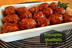 porcupine meatballs - An Affair from the Heart EASY Weeknight meal with only 6 ingredients, comes together in about 30 minutes