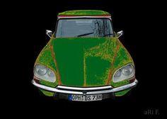 #Citroen DS Pallas in black & green mixed #Oldtimer #photography & digital #artwork #CarShooting