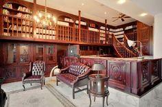 mezzanine home library -