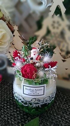 再販*クリスマスカップ&サシェ Flower Arrangements, Diy And Crafts, Soap, Candles, Table Decorations, Flowers, Christmas, Home Decor, Natal