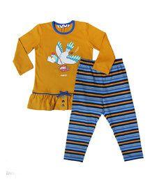 <strong>Meisjes Pyjama, Chinese Yellow</strong><br /><em>Beschikbare maten:</em> 2y,4y,6y,8y,10y,12y,14y,16y