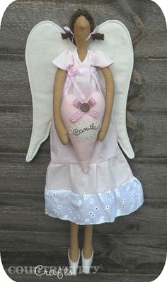 Camilla Tilda angel doll by countrykitty, via Flickr