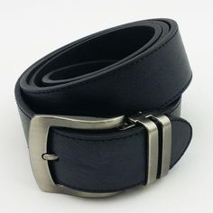 Fits up to size Two piece belt consisting of PU (poly-urethane) overlay and leather backing Pin buckle piece detaches to allow for other buckles Golf Belt Hold Ups, Bright, Belt, Black And White, Leather, How To Wear, Accessories, Fashion, Belts