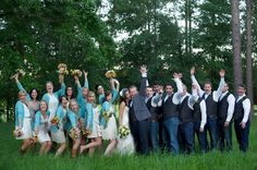 Country Southern Wedding Party