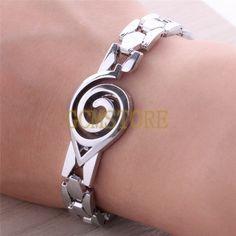 Anime Naruto Konoha Logo Alloy Silver Bracelet #jewelry #jewels #jewel #gems…