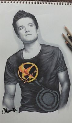 Fan Art: Josh Hutcherson Drawing by Megan Bucklin