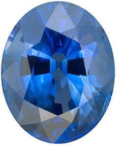 Blue Sapphire Loose Gemstone, Oval Cut, 9.5 x 7.9 mm, 3.27 Carats at BitCoin Gems