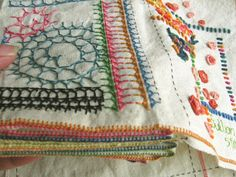 Million Little Stitches: How I make my Fiber Books  This would be an interesting way to keep a catalogue of different stitches I try
