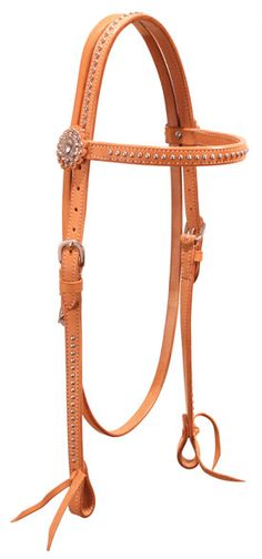 Working Cowboy Collection Browband Headstall With Dots   Share| Code: BL6202 Price: $34.95 Quantity in Basket: None Color: Quantity:      From The Working Cowboy Collection!  From Buffalo Leather Of The Rockies. Leather browband headstall, double and stitched ⅝ leather with dots and silver conchos. Stainless steel dots accent the brow, cheeks, and crown of this soft, supple leather headstall. Waterbury tie bit ends with durable stainless steel hardware. Horse Size.  Choose Light Oil…