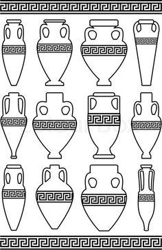 greek patterns on vases - Google Search