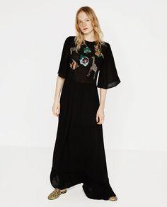 Robe noir moulante zara
