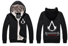Leecos Assassin's Creed Winter Plus Velvet Hooded Sweater Zipper Cardigan Sweater Hooded Sweater, Sweater Cardigan, Assassins Creed Hoodie, Assassin's Creed, Red Sweaters, Hoods, Zipper, Amazon