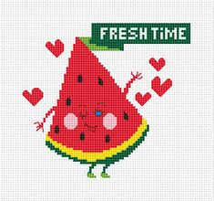 Fresh Time Cross stitch pattern Instant by FancyworkDesign on Etsy