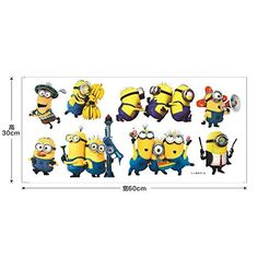 ADB Inc Despicable Me 2 Minions Movie Removable PVC Decals DIY Minion Kids Wall Stickers Minions 02 -- Visit the image link more details. Wall Stickers Minions, Nursery Wall Stickers, Despicable Me 2 Minions, Minion Movie, Picture Show, Decals, Snoopy, Kids, Image Link