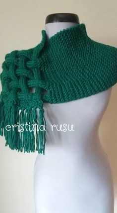 The Celtic Knit Woven Scarf giant scarf chunky knit scarf