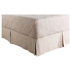 Bilzen Luxury Bedding Skirt (King/King CA) Gray - Surya, Light Grey