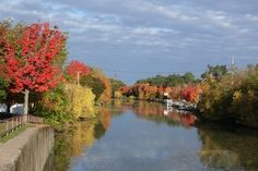 Erie Canal at Fairport, NY.  One of my favorite little quaint towns.