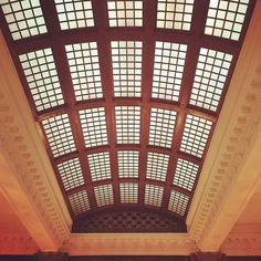 The ceiling of the Seelbach Hilton Hotel lobby in #Louisville #Kentucky.  #SavingPlaces #ThisPlaceMatters #LouisvilleIG #Kentucky #hilton #ceiling #skylight #arch