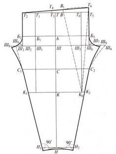 Выкройка изделия с вшивными рукавами