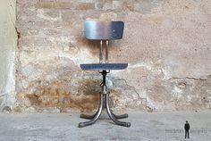 Lot de 4 chaises vintage année 70 métal chromé
