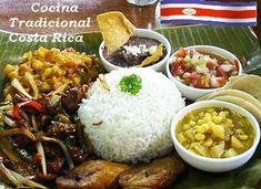 Las recetas de la cocina costarricense se caracterizan por ser sabrosas y muy variadas en ingredientes, al ser un país agricultor y con los elemento... Costa Rica, Frijoles, Grains, Food, Rib Recipes, Cooking Recipes, Farmer, Breakfast, Meals