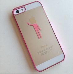 iPhone 4s iPhone 5s Case Clear Hard Funny Stick Man Premium Case gold, silver, blue, pink, black, durable, slim, gift, hot, girl on Etsy, £8.37