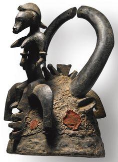 Senufo Helmet Mask with Female Figure, Ivory Coast | Lot | Sotheby's
