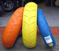 Challenge Motorcycle Tires We Dont Often Expect To See Color When Look At But There Have Been Varied Attempts Produce Them