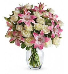 She 'll always be your #1 lady. Remind her just how special she is - send a sensational gift she 'll never forget. This beautiful bouquet of fragrant pink lilies and lush white roses is sure to make an impression!