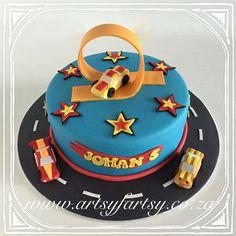 Hot Wheels Cake #hotwheelscake Hot Wheels Cake, Motorbike Cake, Cupcake Cakes, Cupcakes, Cakes For Boys, Making Out, Fondant, Birthday Cake, Cake Ideas