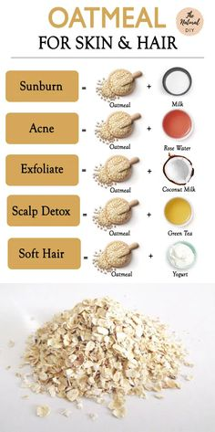 OATMEAL BEAUTY RECIPES- Beautiful Skin & Hair - The Natural DIY