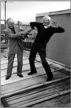 .Robert Doisneau & Henri Cartier-Bresson sur un toit de Paris 1996 Like & Repin. Noelito Flow. Noel songs. follow my links http://www.instagram.com/noelitoflow