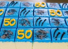 Carolina Panthers cake squares for the Super Bowl! Carolina Panthers Cake, Sports Themed Cakes, Bowl Cake, Super Bowl, Squares, Supper Bowl