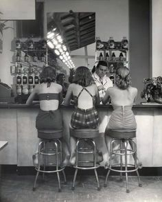 soda fountain. Sofie and Estef we need to find an old fashioned soda fountain at a drug store so we can have milkshakes and sundaes and take this picture.!!!