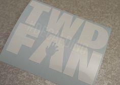 TWD FAN - the walking dead fan decal sticker - zombies walkers