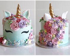 Bday Girl, Girl First Birthday, Unicorn Birthday Parties, Unicorn Party, Birthday Cakes, Birthday Ideas, 4th Birthday, Diy Unicorn Cake, Unicorn Cupcakes