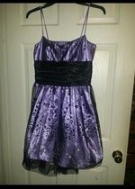 Purple and Black Dress with straps