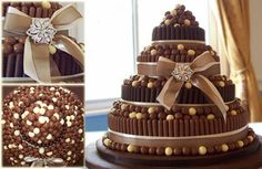Chocolate cake with maltesers and fingers