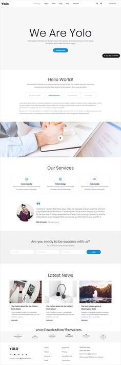 Yolo is a clean and modern design responsive multipurpose #WordPressTemplates for creative agency #website with 30+ niche homepage layouts to download & live preview click on image or Visit 🡽 #webdevelopment