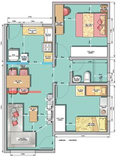 Find out the Biggest Secrets of Space Distribution – Architecture Admirers Layouts Casa, House Layouts, Small House Plans, House Floor Plans, Apartment Plans, Prefab Homes, Architecture Plan, Model Homes, Small Apartments