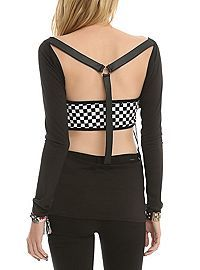 HOTTOPIC.COM - Skull Harness Back Top