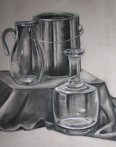 Still life drawing ; dessin de nature mort… - Everything About Charcoal Drawing and Sculpture Pencil Drawings Of Flowers, Pencil Art Drawings, Realistic Drawings, Art Drawings Sketches, Charcoal Drawings, Still Life Sketch, Still Life Drawing, Still Life Pencil Shading, Charcoal Artists
