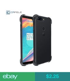 Cases, Covers & Skins Cafele Shockproof Airbag Slim Soft Silicone Tpu Clear Case Cover For Oneplus 5T #ebay #Electronics