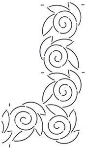 Quilt Stencil Swirl 4 '' Border
