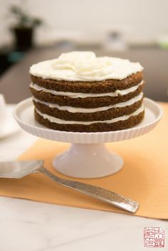 Alice Medrich's Carrot Cake with Cream Cheese Frosting - Dessert First