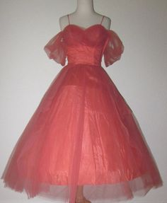 Vintage 1950s Princess Cinderella Gown S by divelegant on Etsy, $225.00